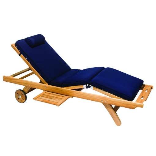 Royal Teak Collection Navy Sun Bed Cushion - CUSBN