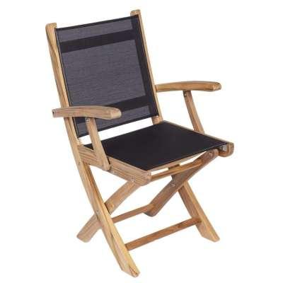 Royal Teak Collection Navy Sailmate Folding Arm Chair