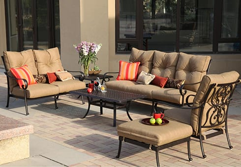 outdoor deep seating at the outdoor store