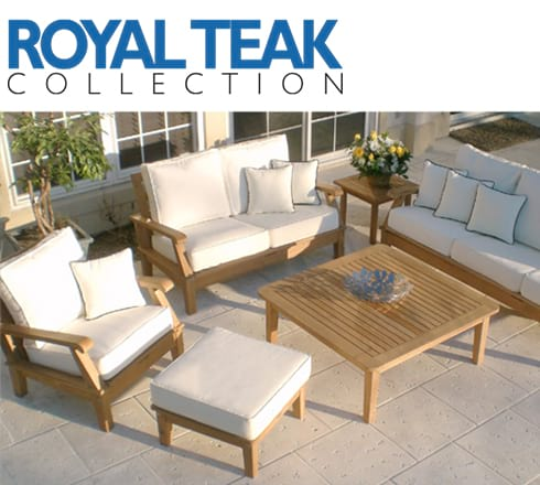 royal teak collection at the outdoor store
