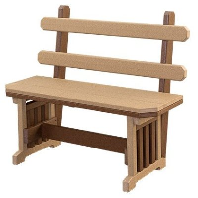 Finch Mission 54-Inch Backed Bench