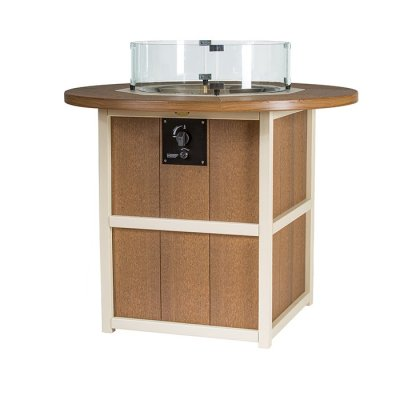 Finch SummerSide Round Counter Fire Table