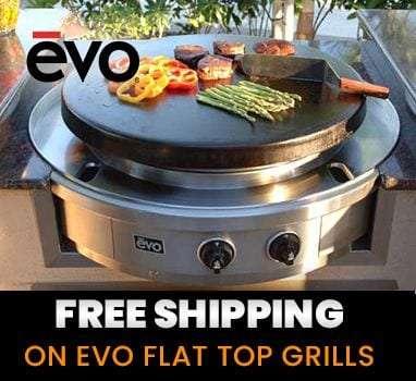 free shipping on evo flat top grills