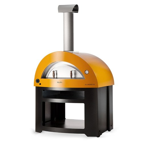 alfa allegro yellow freestanding pizza oven
