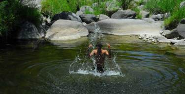 Cool down in a natural spring