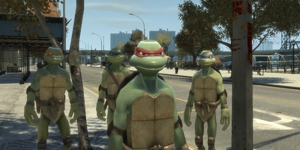 Seriously with mods you can even put the TMNT gang into GTA IV!