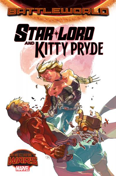 secret wars battle world star lord and kitty pryde