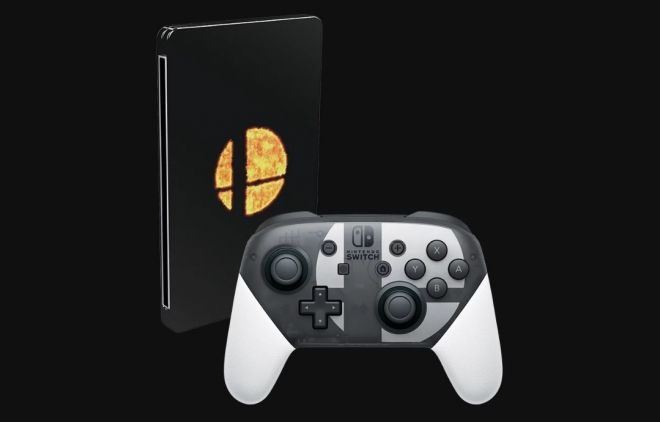 Smash Bro Ultimate Switch Pro Controller and Steelbook