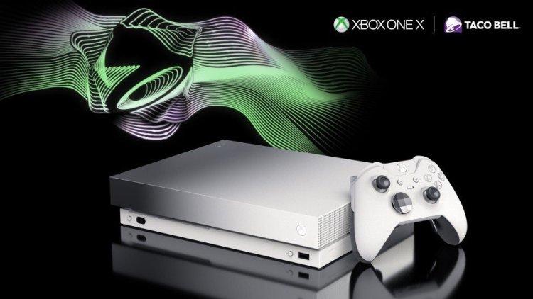 platinum Xbox One X - Taco Bell