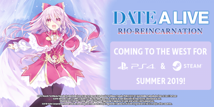 DATE A LIVE: Rio Reincarnation announcement at Idea Factory Intl's 5th Annual Press Event.