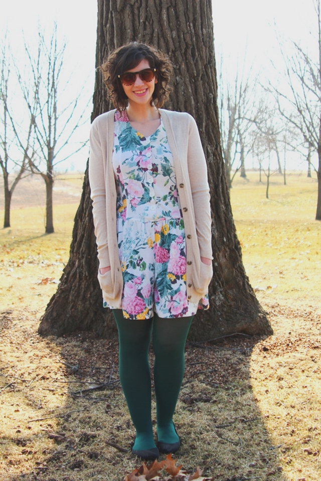 hannah rupp the outfit repeater st. patrick's day outfit floral romper