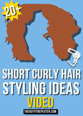20 Ways To Style Short Curly Hair The Outfit Repeater