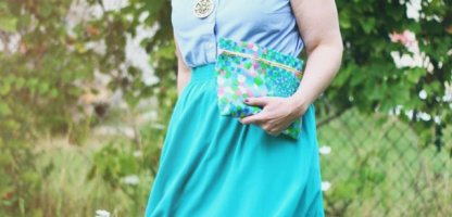 Making A Teal Skirt Work in Real Life