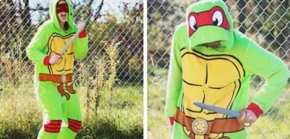 Lazy Girl Costume: Teenage Mutant Ninja Turtle