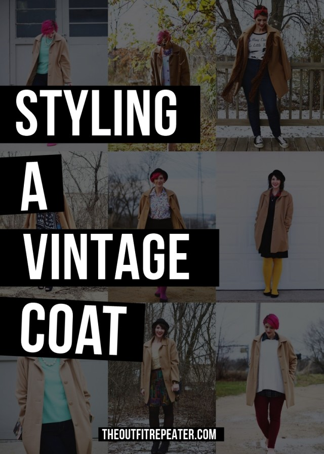 Got a vintage coat that you're stumped on styling? Take some tips from me and my 1960's era camel colored shell coat.