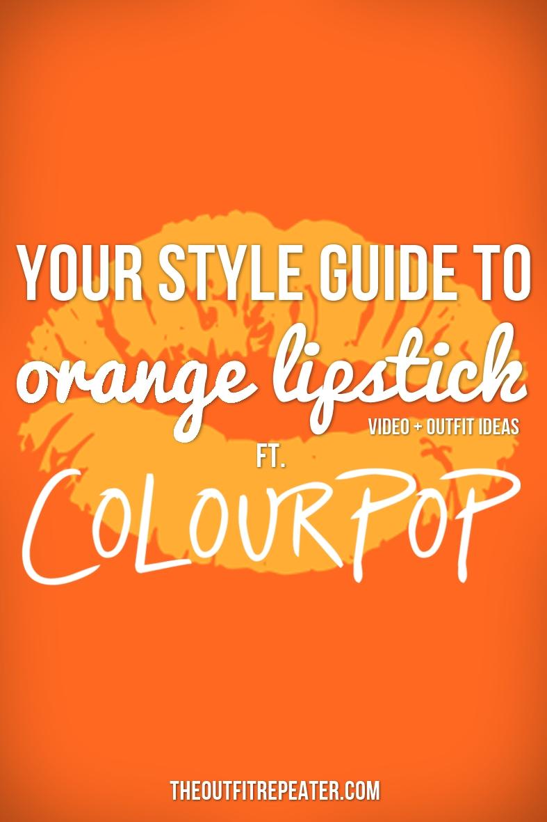 Fall makeup idea orange lipstick ColourPop Tarot