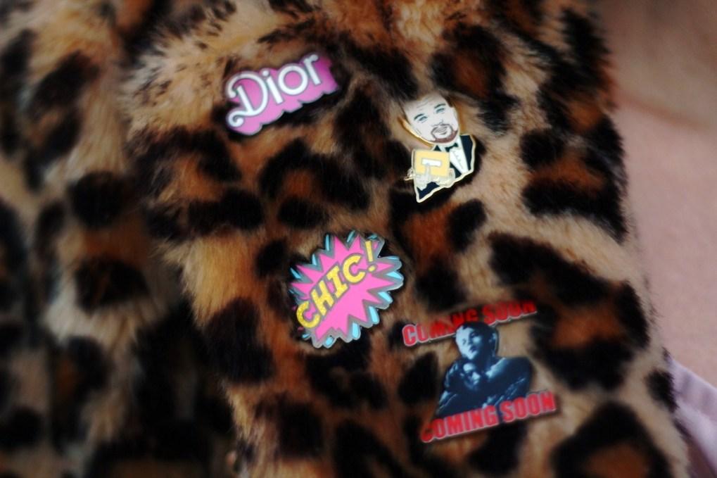 PinDropNYC enamel pins flair pop culture Leonardo DiCaprio Titanic Dior Chic girly