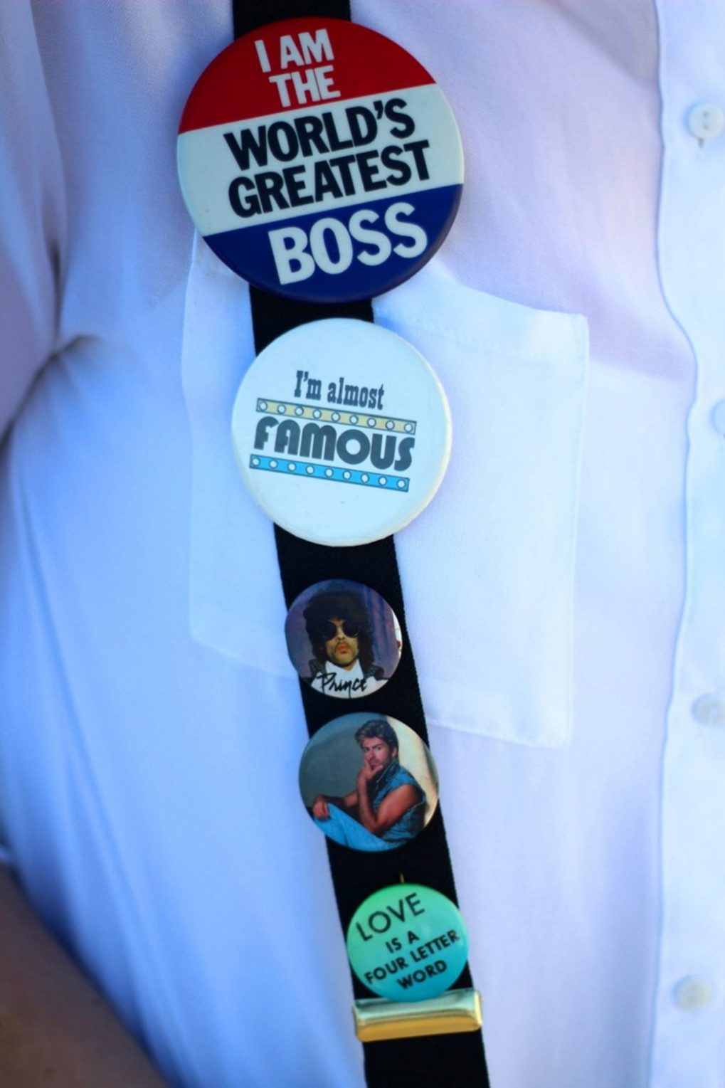 vintage pin buttons flair Prince George Michael 2016