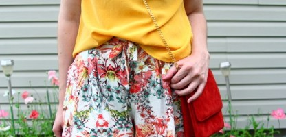 Going Outside My Comfort Zone in Floral Shorts + How You Can Do It Too