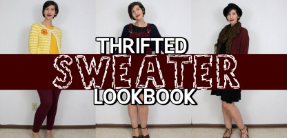 Sweater Weather Thrifted Lookbook