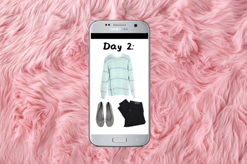 hannah rupp the outfit repeater winter capsule wardrobe challenge day 2
