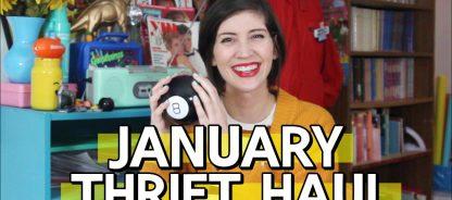 Colorful January Monthly Thrift Haul + February Thrifting Wishlist