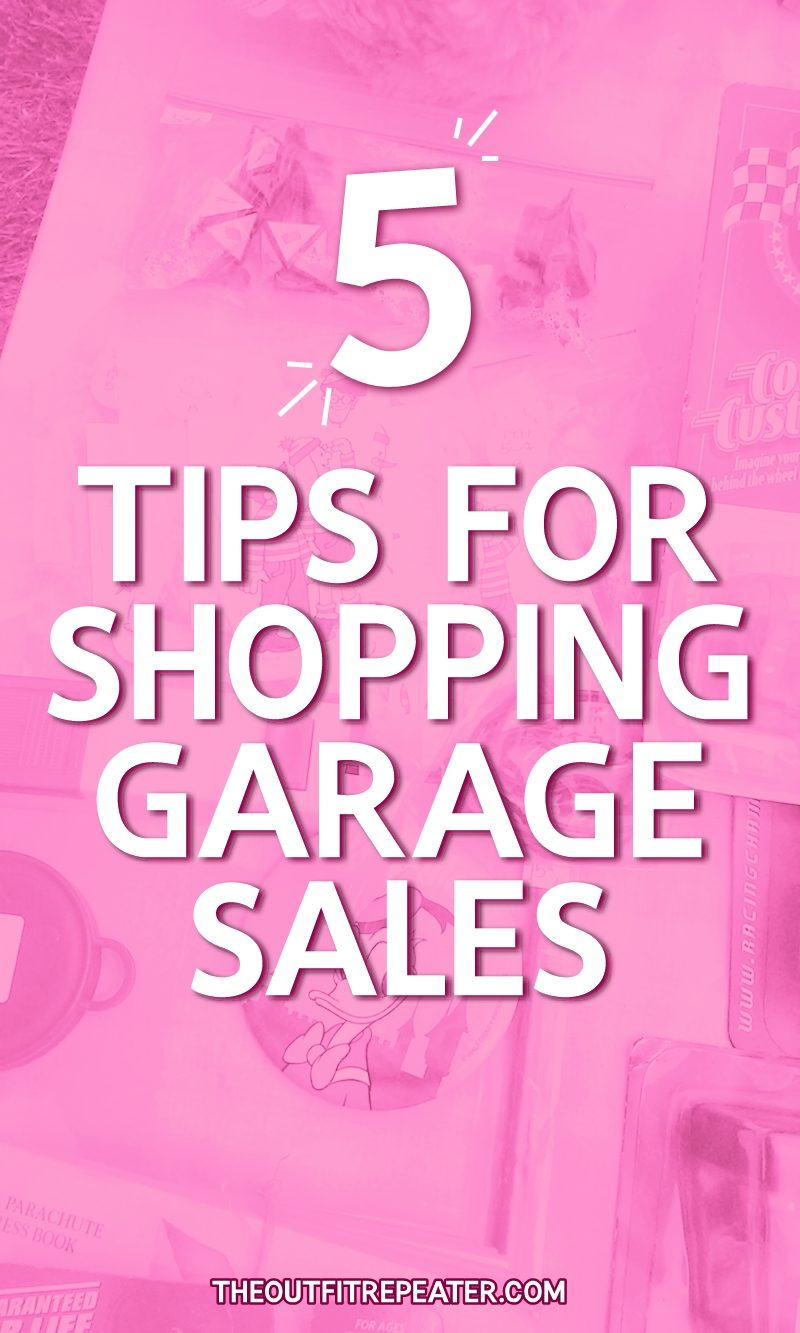 shopping garage sale tips yard thrift secondhand resale hannah rupp the outfit repeater august 12th