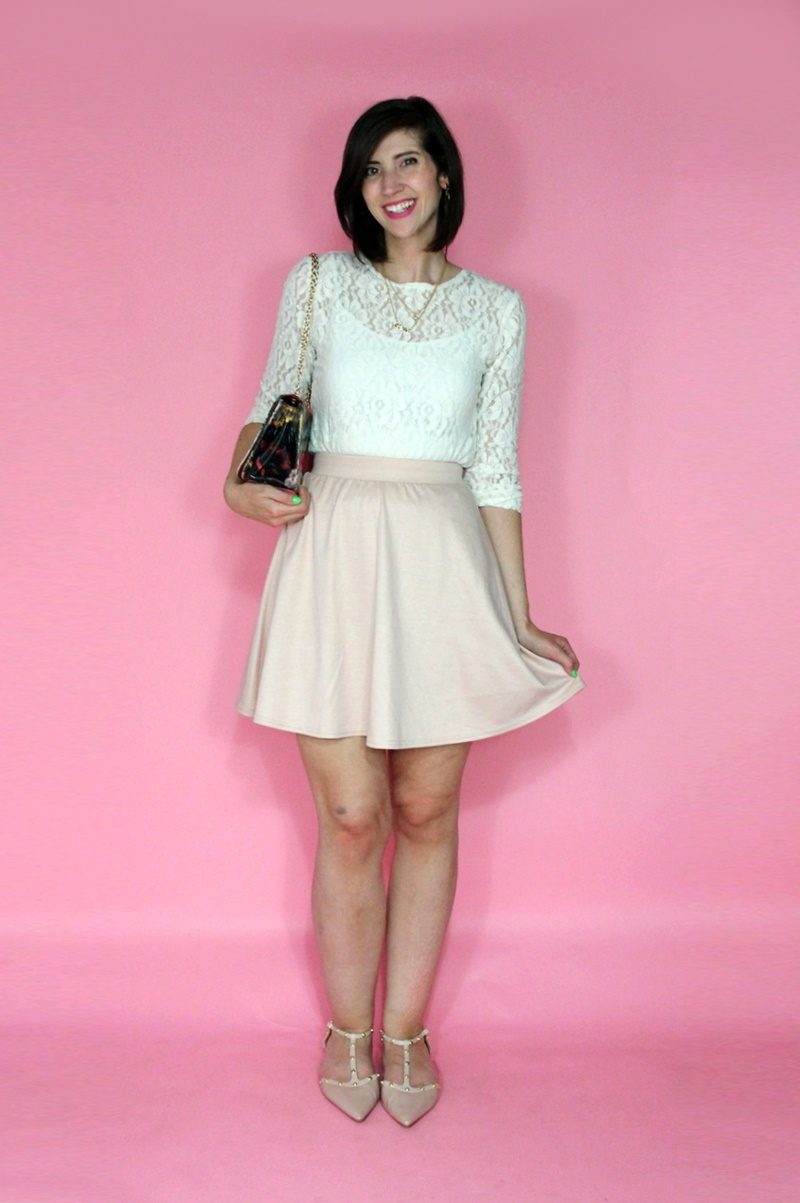 sister styles an outfit for me hannah rupp the outfit repeater thrifted lace skirt