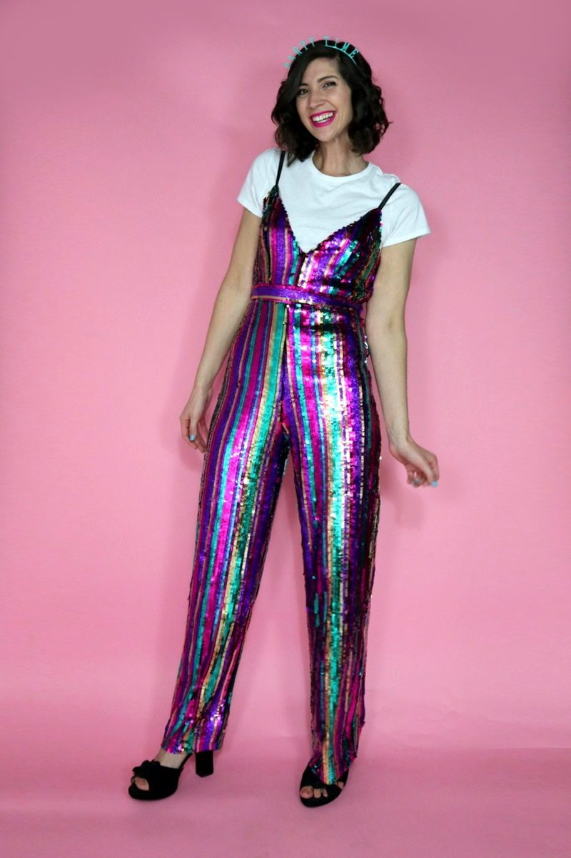 holiday trend new years eve sequin jumpsuit hannah rupp the outfit repeater asos party