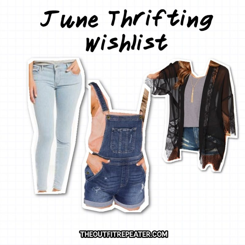 june thrifting wishlist may monthly thrift haul video hannah rupp outfit repeater