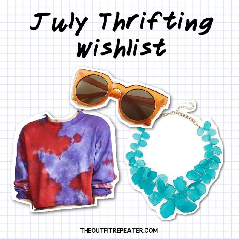 july thriting wishlist june monthly thrift haul video 2019 hannah rupp the outfit repeater