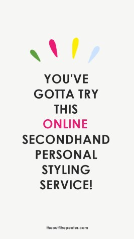 An online secondhand personal styling service by Hannah Rupp aka The Outfit Repeater