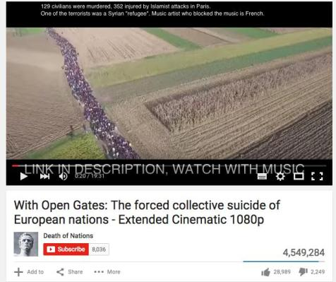 A popular Alt Right video during the European Migration Crisis