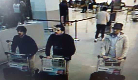 CCTV Footage Of The Brussels Attackers