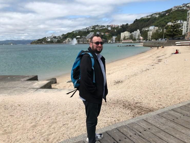 Brendan at Oriental Bay