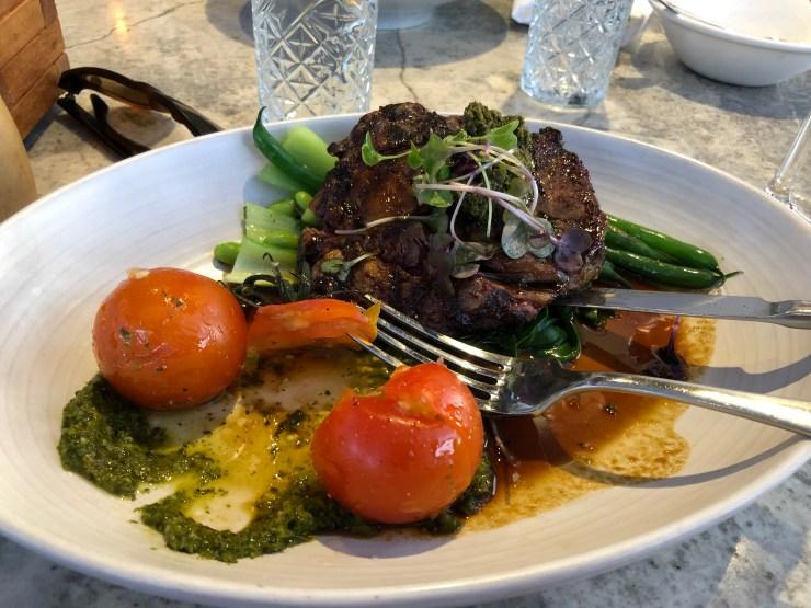 The meal at Charlottes Kitchen, Paihia