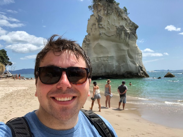 Selfie at Cathedral Cove