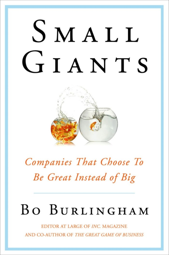 Recent Read: Small Giants by Bo Burlingham