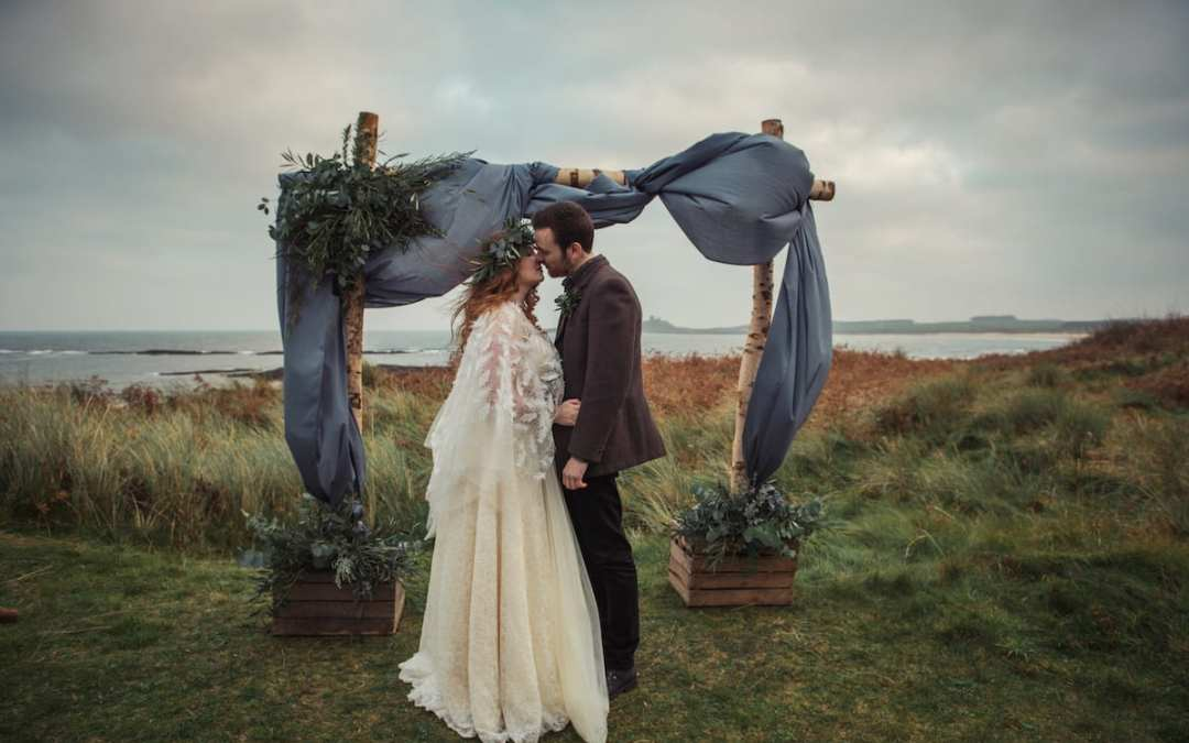 Outdoor Elopement Inspiration on the Northumberland Coastline