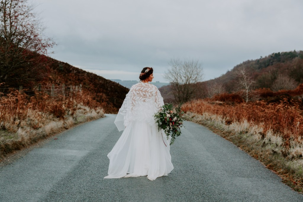bride in the road