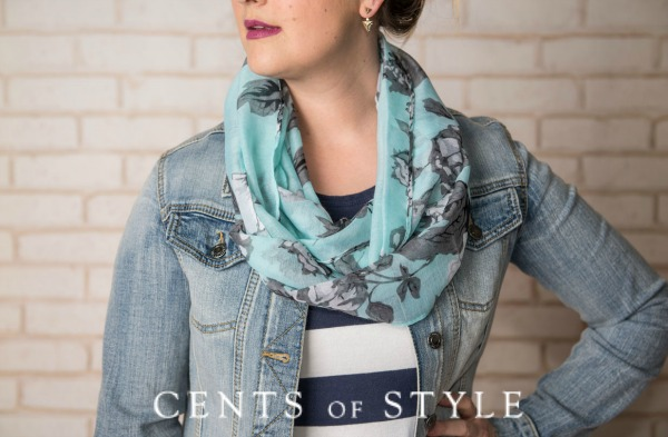 Style Steal Today only! Floral Print Scarf – $8.95 & FREE SHIPPING- 2 Scarves for under $12!