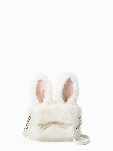kate spade magic bunny rabbit fuzzy bag purse