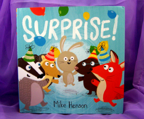 surprise, books, kids, babies, toddlers, reading, reviews, picture books, drawings, rabbits, birthdays, celebrations, parties, fun, learning