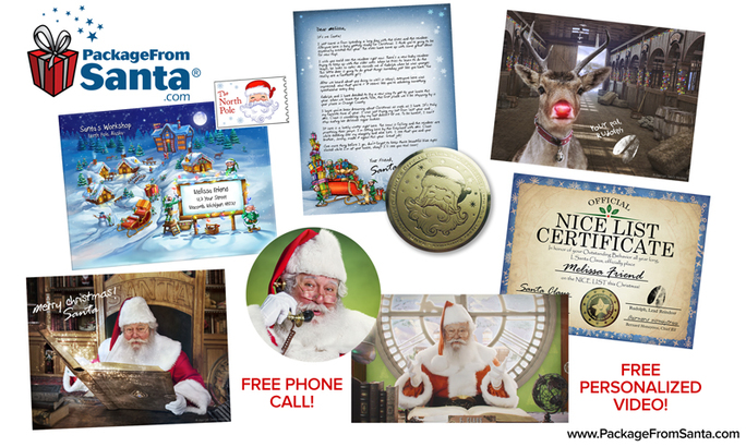 package from santa christmass holiday gift guide blog order kids talk to santa claus elves letter phone call gifts package