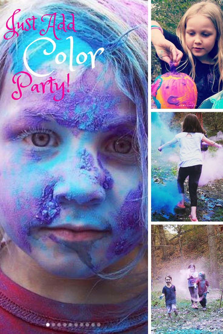 jutad color party birthday colored dust fun kids throw pr friendly blog blogger guide best pumpkin painting face paint nontoxic greatides children parents laughter smiles unusual holi new holidays outoors fall