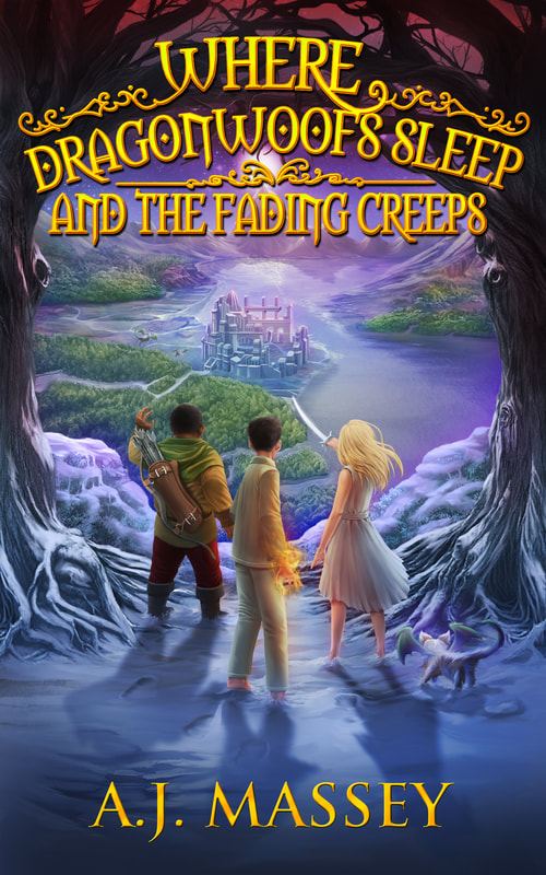 dragonwoofs sleep and the fading creeps book review giveaway blog tour post holiday gift guide reading middle school kids children YA fantasy 1980s neverending story enchanting win giveaway books