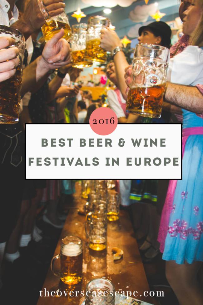 Best Beer & Wine Fesivals in Europe