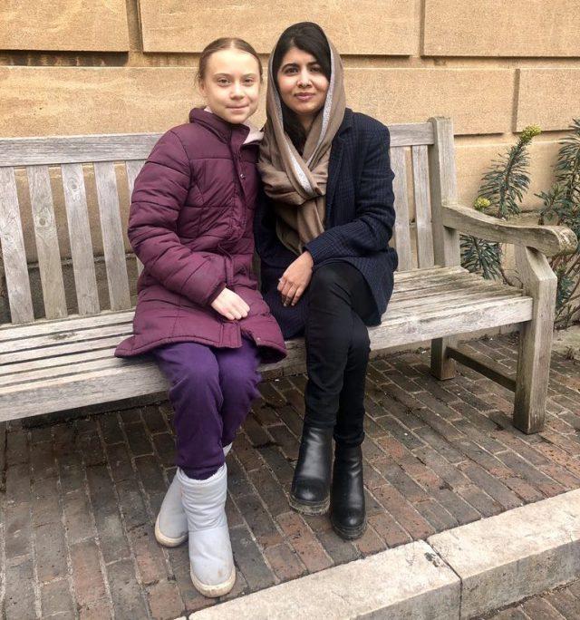 Greta met Malala Yousafzai in February at Lady Margaret Hall, Oxford.
