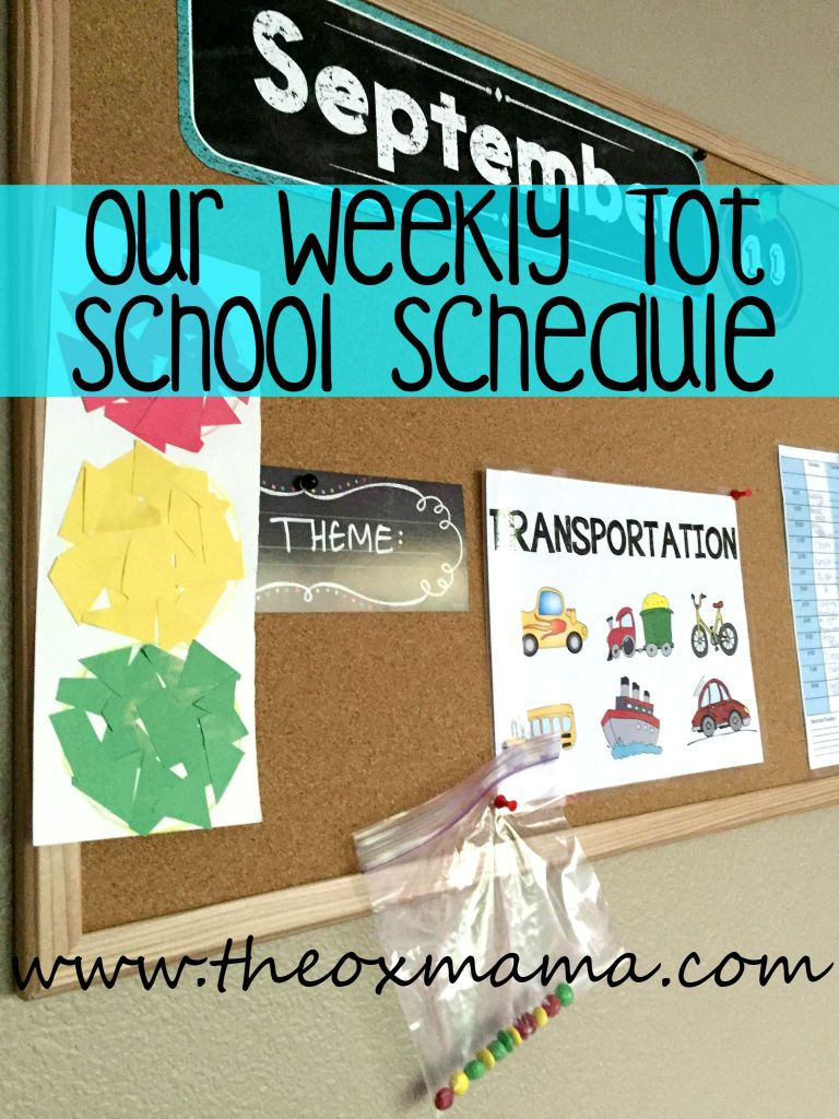 Our Weekly Tot School Schedule: How to stay focused and structured with your weekly homeschool theme | theoxmama.com