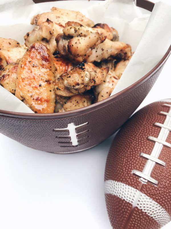 Honey Lemon Pepper Wings | Game Day Dish: Perfect side or main dish for watching football with friends and family!